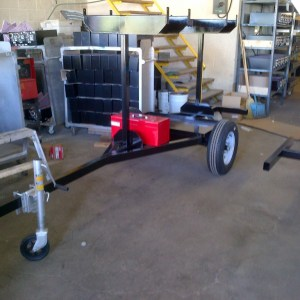 Safety Rail 2000 Trailer for Mobile Guardrail Use