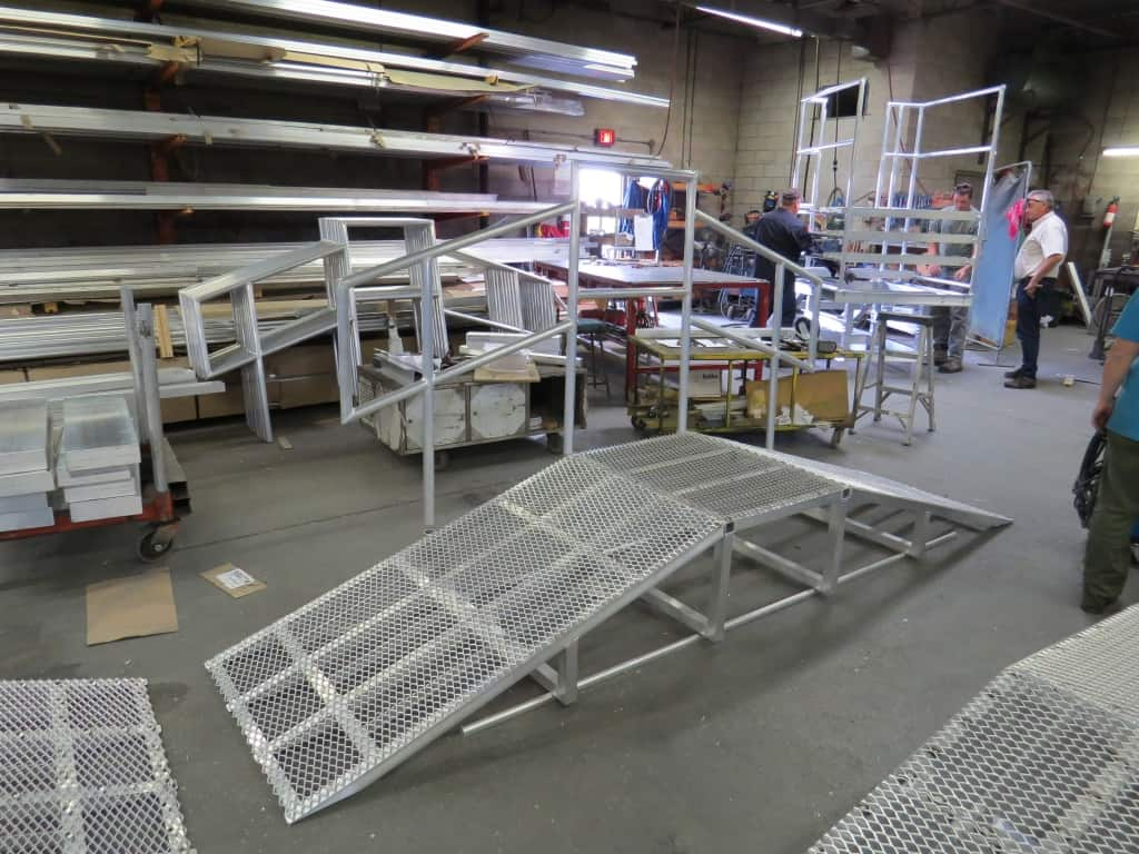 Custom Fabricated Rooftop Crossover Ramps W S Safety